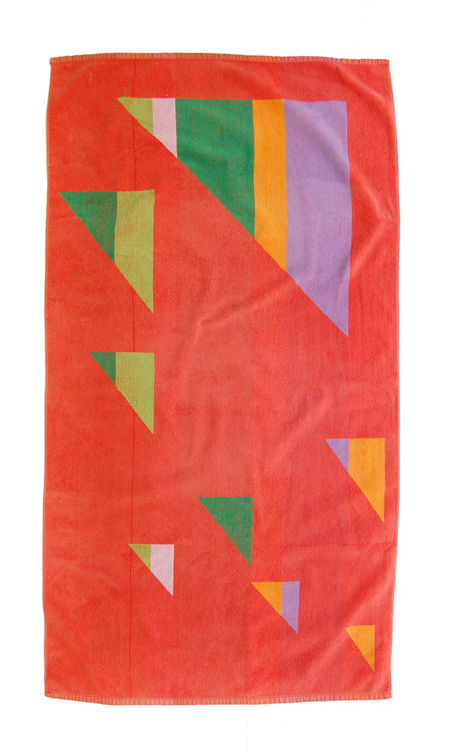 """All The Right Angles"" vintage beach towel"