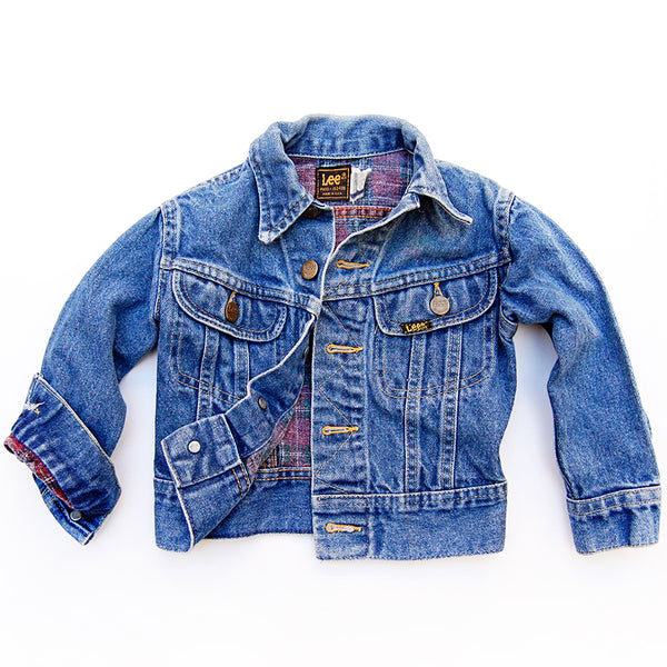 """Bud"" vintage 80's Lee's kids denim jacket <br> (size: 5T)"