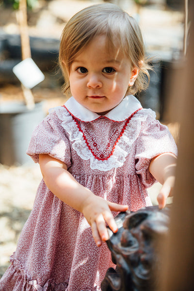 "The ""Adelaide"" <br>baby girl vintage ruffled dress<br> (18-24 months)"