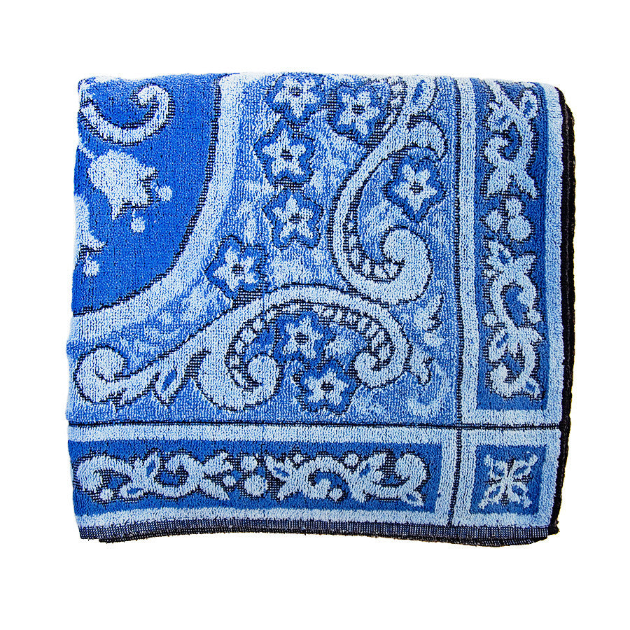 """moonlight blues"" vintage towel"
