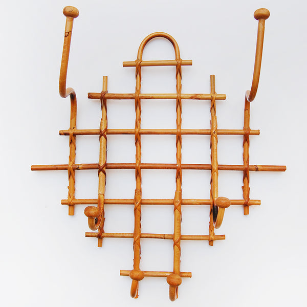 Vintage Mid Century Modern French Bamboo Rack