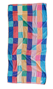 """Color Board"" vintage beach towel"