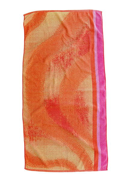 """Tropical Punch"" Pair of Vintage Beach Towels"