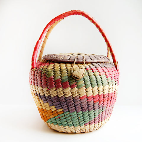 Colorful Vintage Coil Basket