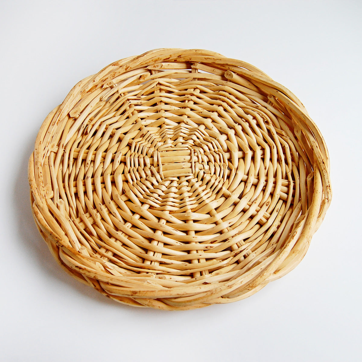 Vintage Woven Rattan Tray