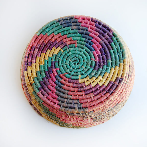 Large Pastel Coil Basket