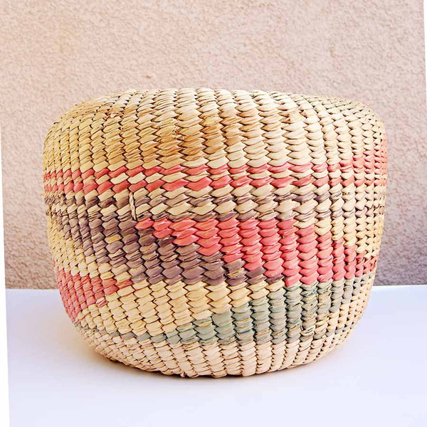 Large Vintage Coil Basket Planter