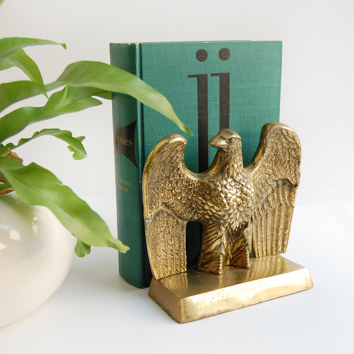 """Mighty Mighty Eagle"" Brass Bookends"