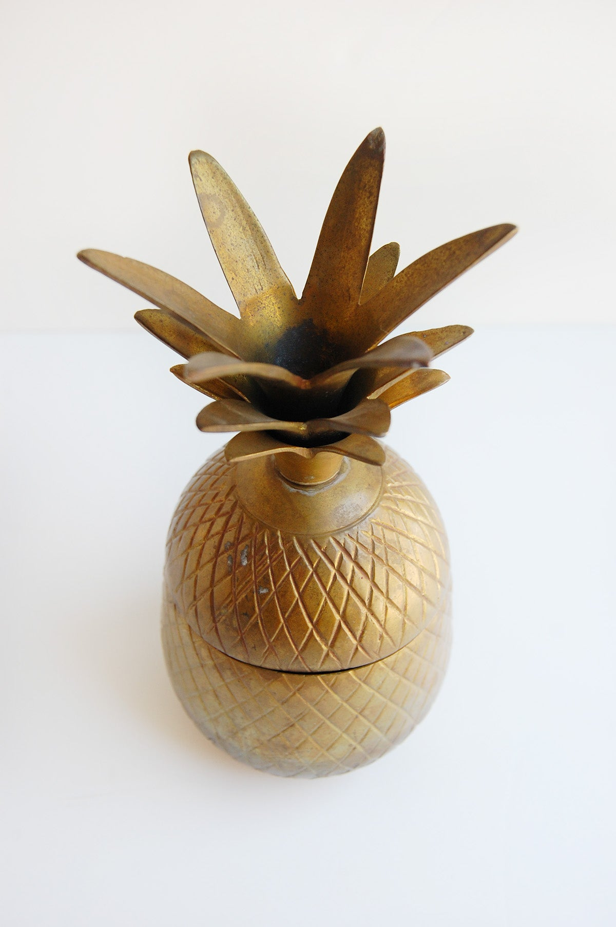 MCM Brass Pineapple Container