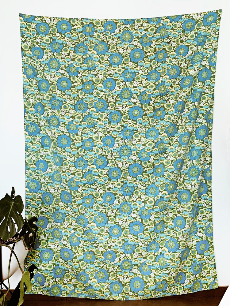 """Get Groovy"" vintage tablecloth/throw"