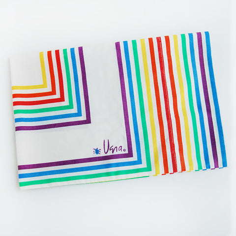 "vintage Vera ""rainbow"" pillowcase"