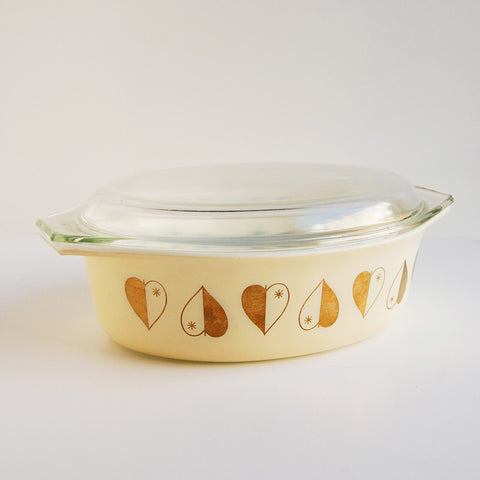 """Heart of Gold"" Vintage Pyrex Dish"