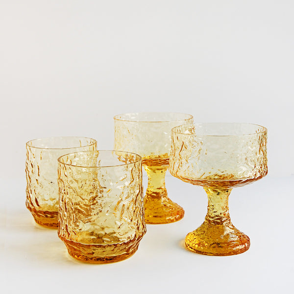"""Lemon Love"" Vintage Drinking Glasses"