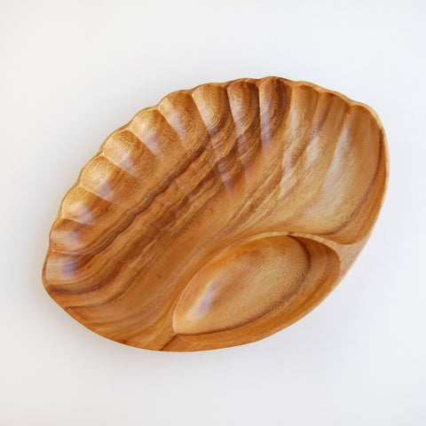 Teak Shell Serving Tray