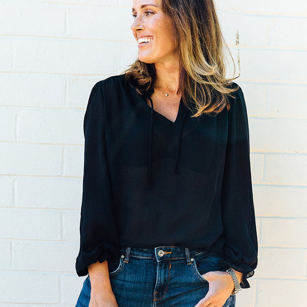 Teddi of California | black sheer vintage top