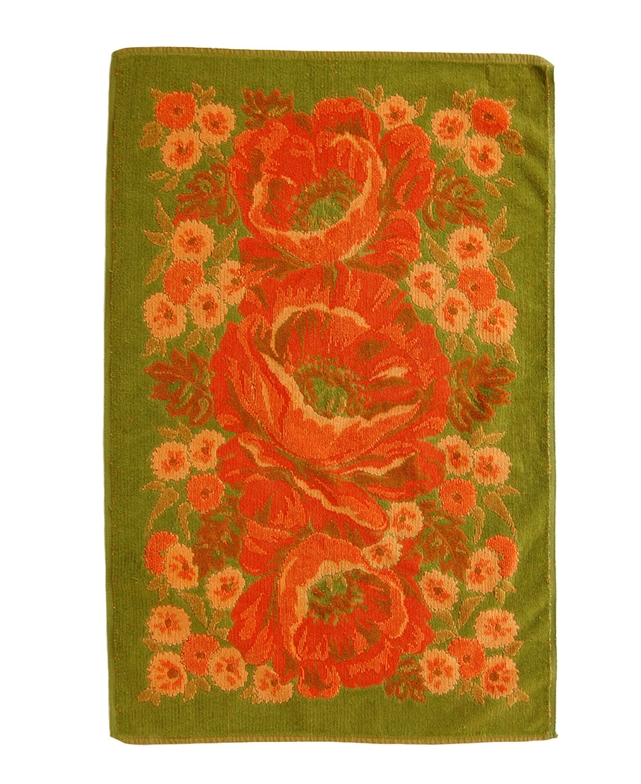 """Ca. Poppy"" Vintage Towel"