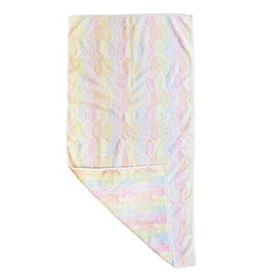 """Rainbow Light"" vintage towel"