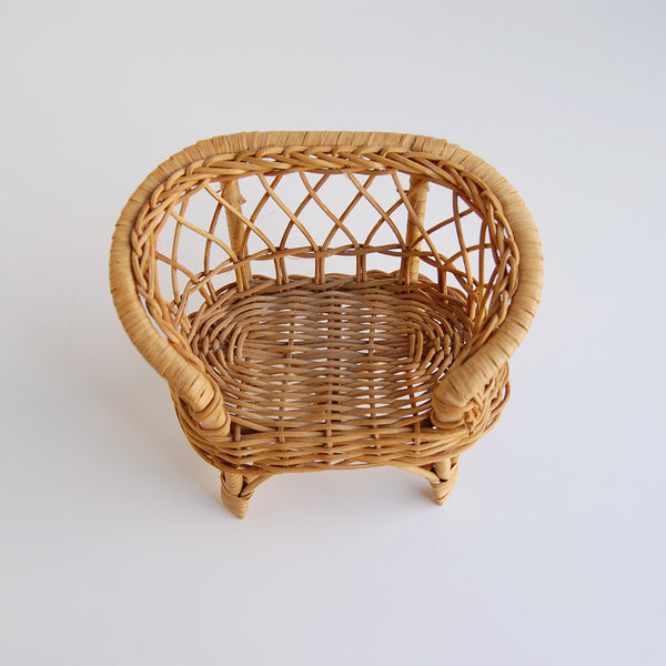 Vintage Wicker Love Seat