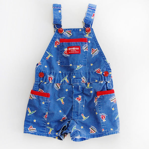 """Little John"" vintage nautical OshKosh shortalls (size: 3T)"