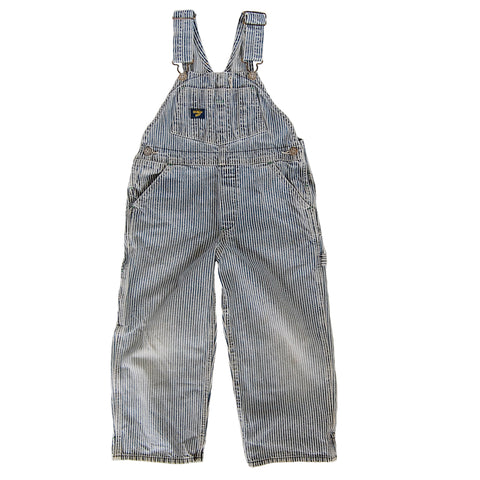 """Classic Kiddo"" vintage OshKosh Railroad Striped Overalls"
