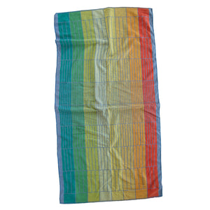 """Rainbow Grid"" vintage beach towel"