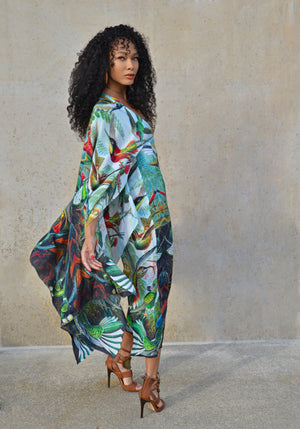 100% SILK KIMONO INSPIRED DRESS