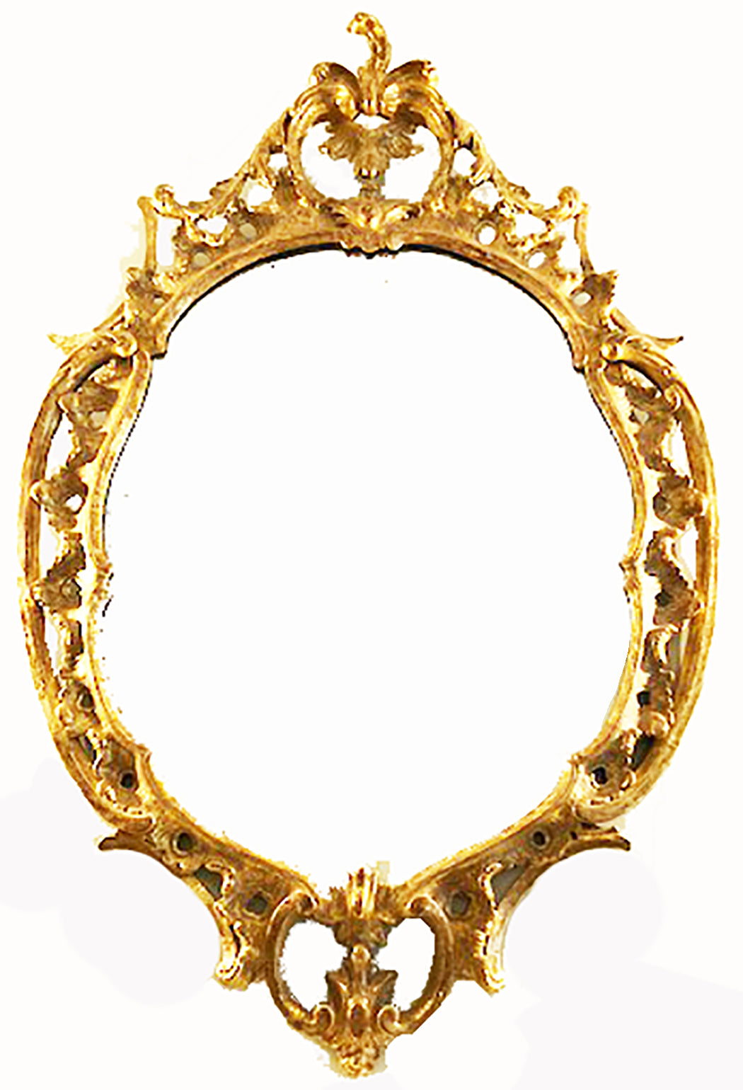 English William IV Gilt Wood Carved Oval Mirror,