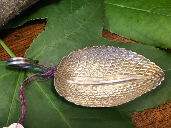 A Rare George III Sterling Silver Caddy Spoon by Matthew Linwood.