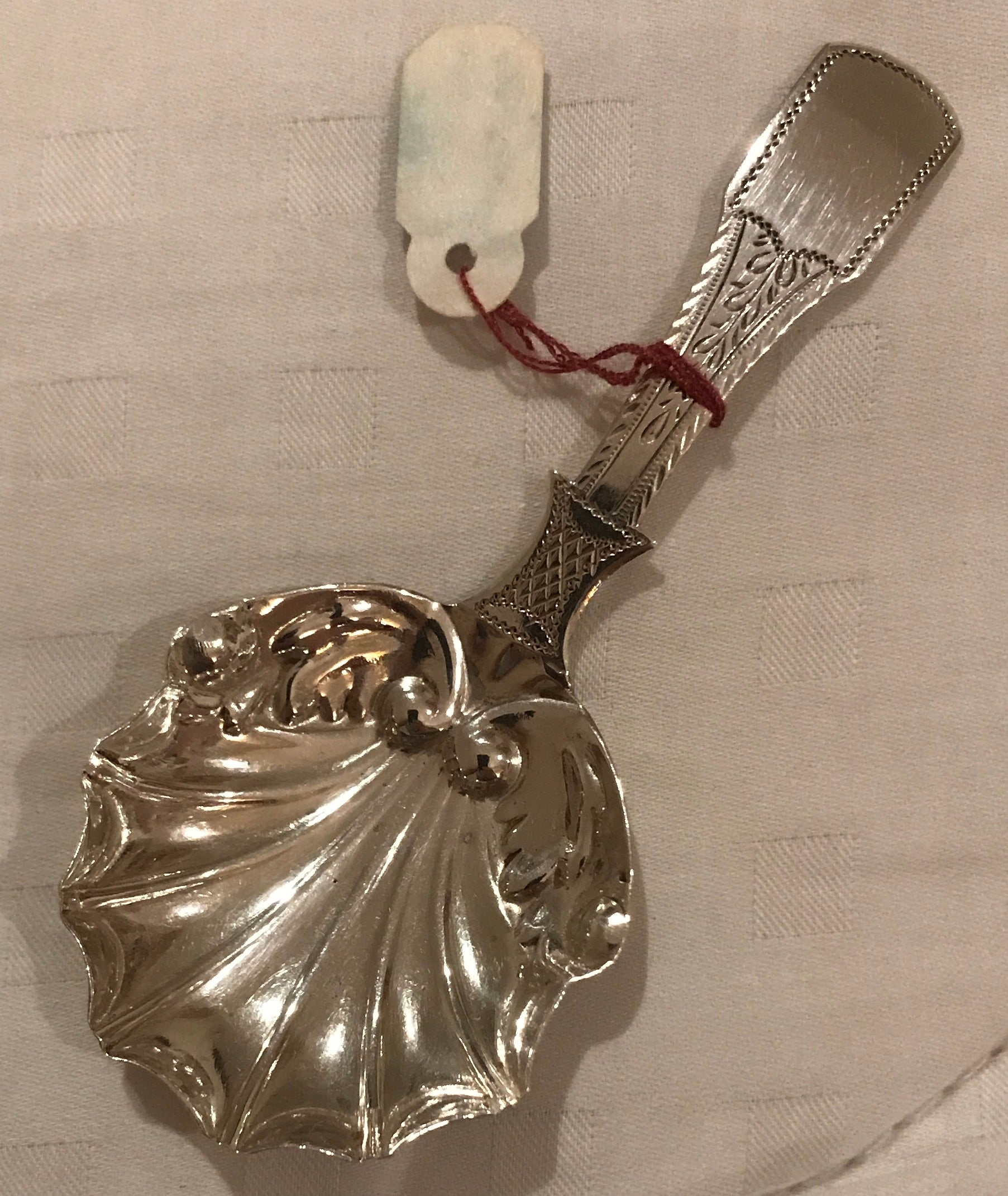 ON HOLD English George IV Sterling Silver Caddy Spoon by John Lawrence, Birmingham.