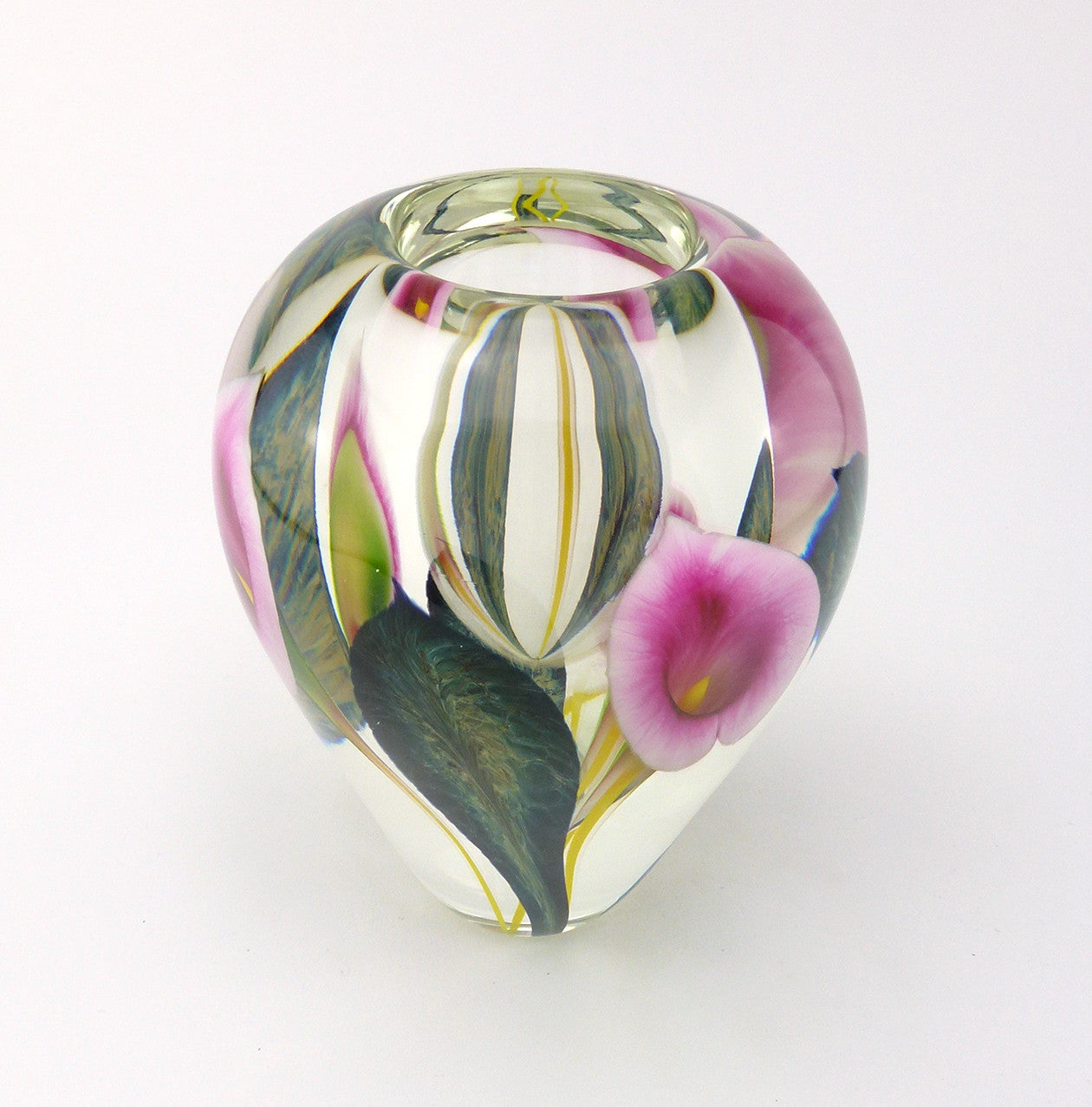 SOLD American Studio Art Glass Vase by Scott Bayless for Lotton Studios