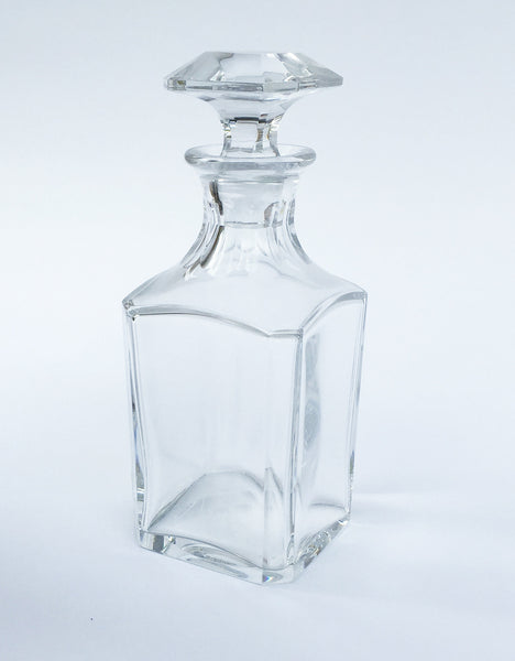 "SOLD French Baccarat Crystal ""Harcourt"" Pattern Square Whiskey Decanter"