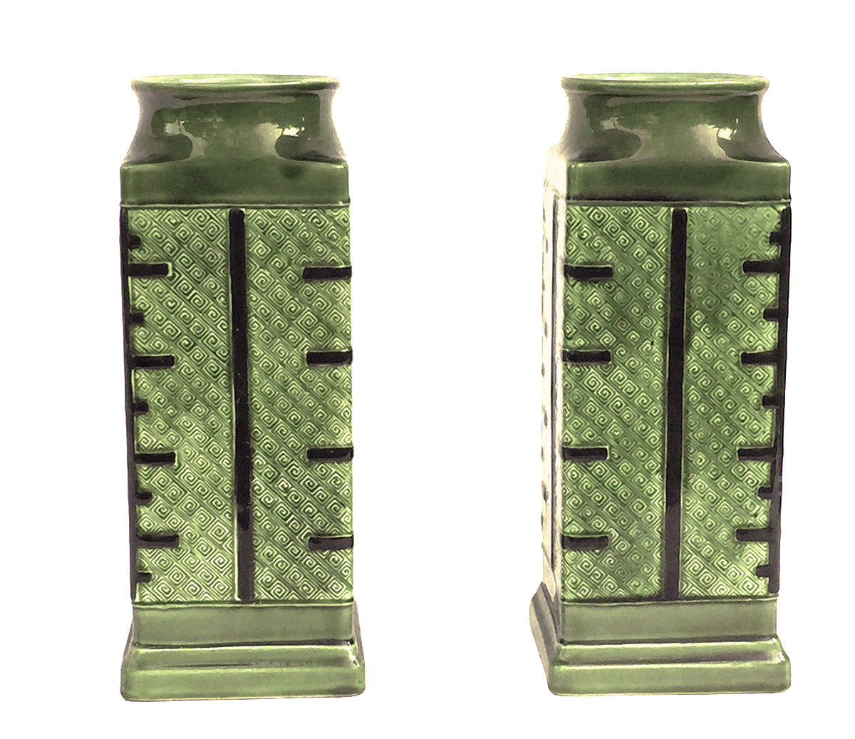 SOLD French (Choisy-le-Roi) Pair of Japonisme Faience Vases, circa 1885