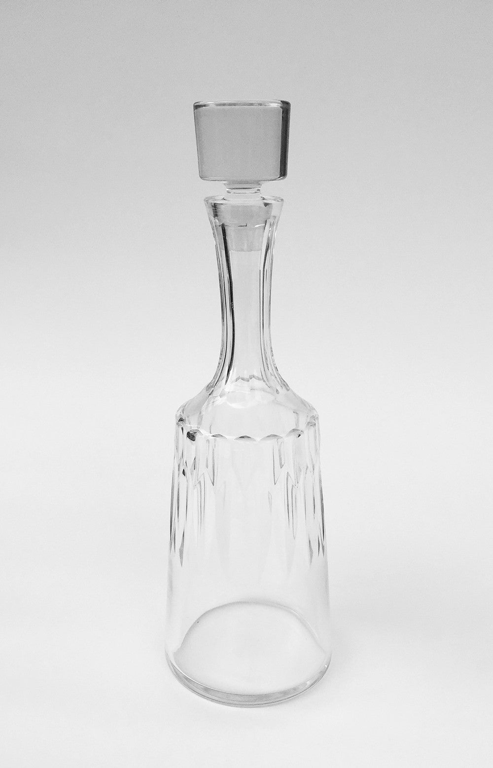 SOLD French Baccarat D'Assas Pattern Cut Crystal Decanter and Stopper