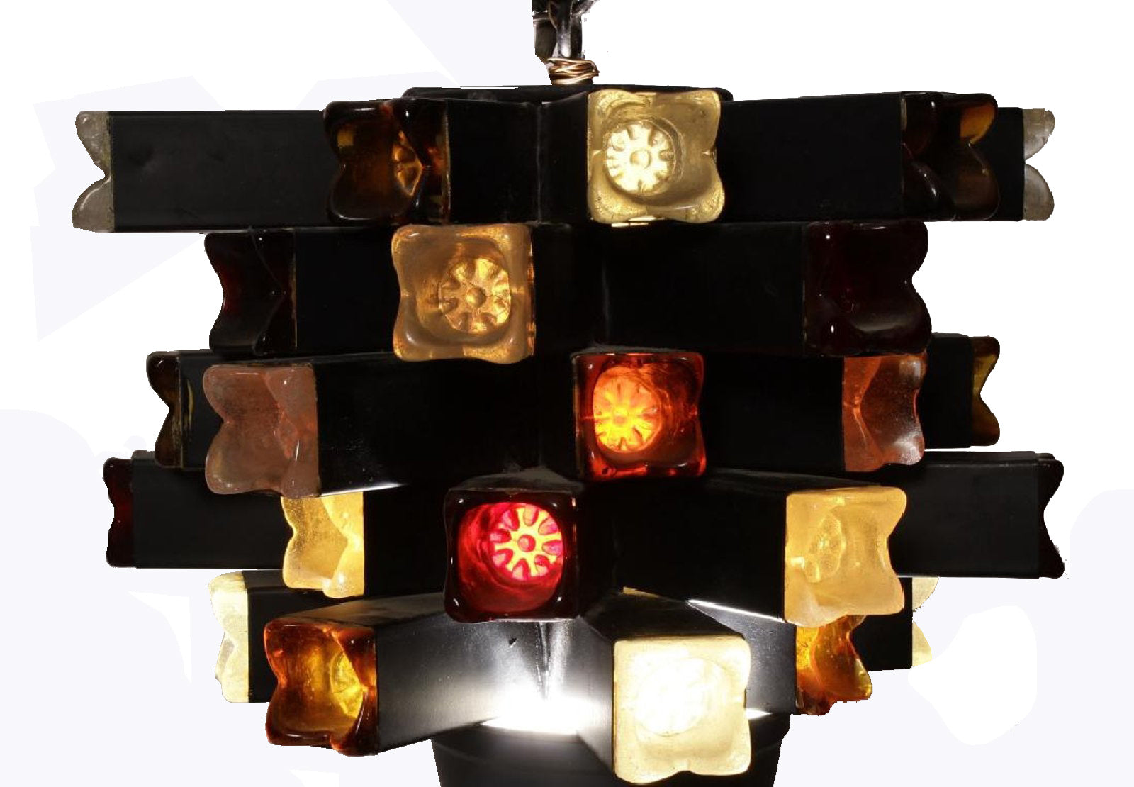 Brutalist Hanging Lamp by Feder of Mexico Late 1960s
