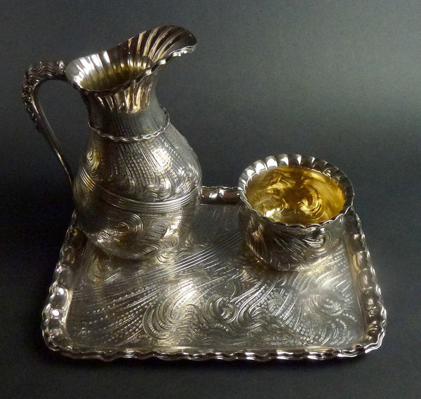 SOLD American Victorian Silver Plate  Middletown Plate Company Bachelor's Drinks Set