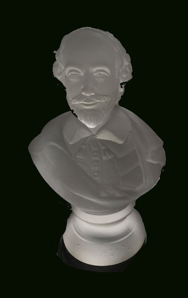 American Gillinder Glass Philadelphia Centennial Glass Bust of William Shakespeare