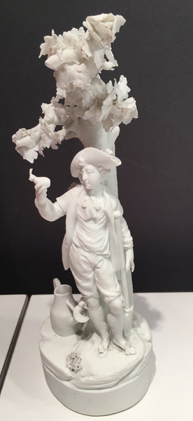 18th Century Bisque Porcelain Figure of a Young Gardener