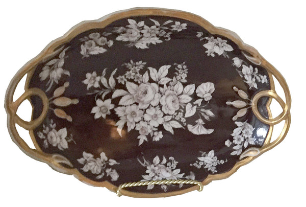 SOLD French Limoges Porcelain Diamond-Shaped Serving Dish