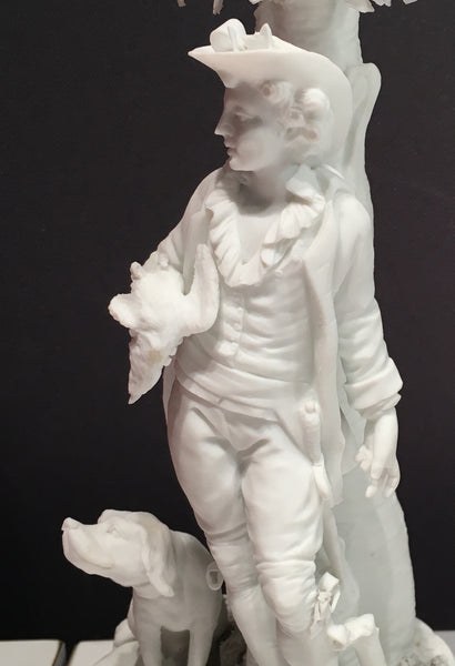 SOLD 18th Century Bisque Porcelain Figure of a Young Hunter