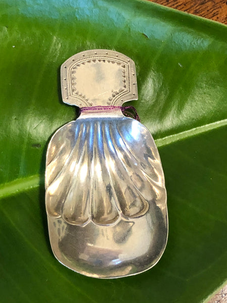 A Fine George III Sterling Silver Caddy Spoon by Samuel Hardy & Thomas Robinson II