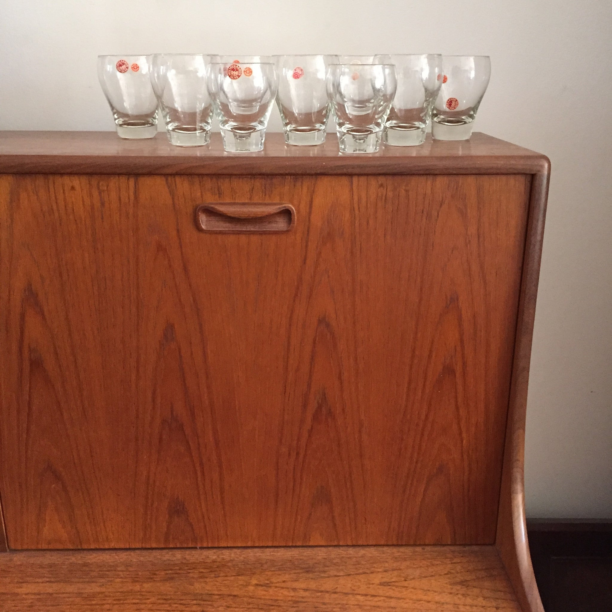 SOLD Living in Style with Per Lütken (1916-1998) Holmegaard Danish Glass Tumblers (8 pieces)
