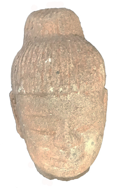 Antique Khmer Sandstone Carved Sculpture Head of Buddha