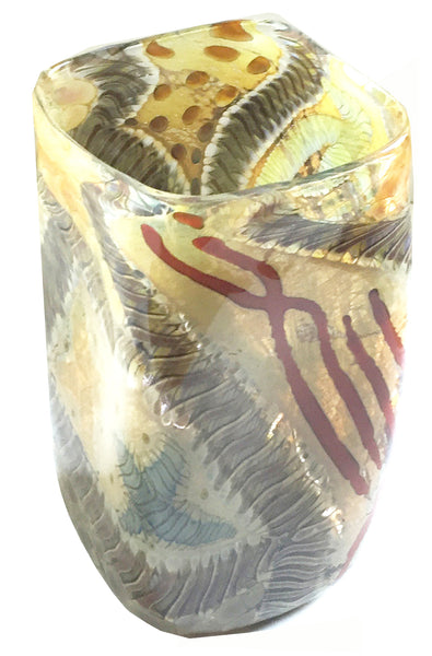 Contemporary Studio Glass Vase by Kenny Walton, Earthtones