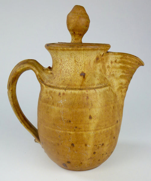Bill Sax (B. 1934, Newark NJ) Red Clay Teapot or Coffee Pot and Two Mugs