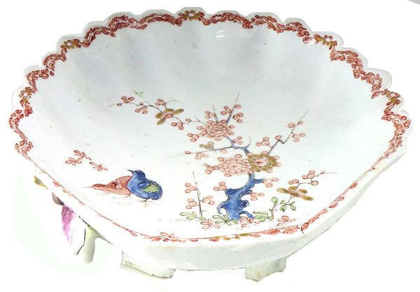 SOLD English Bow Porcelain Factory Large Shell-Shaped Dish