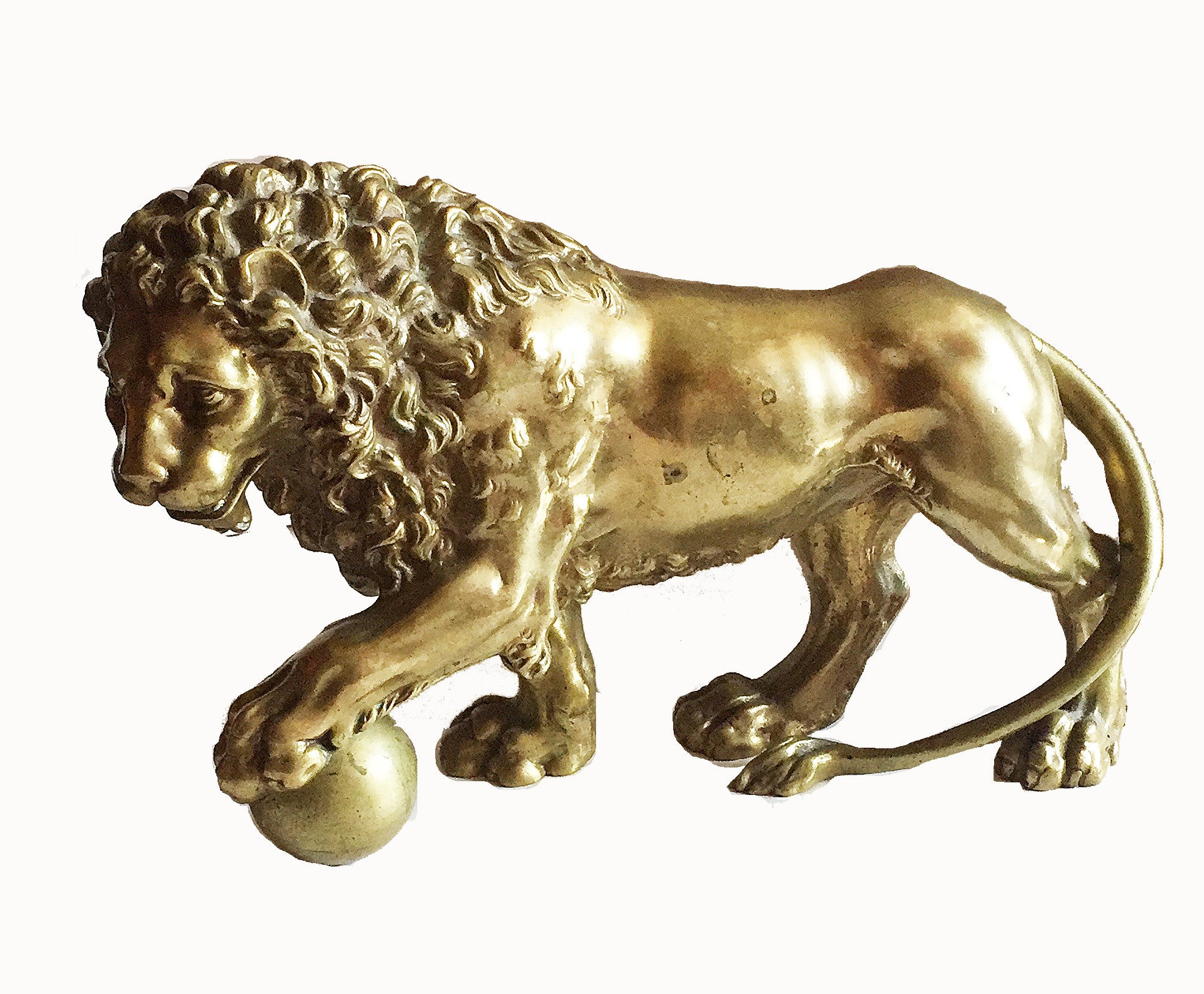 SOLD Continental Gilt-Bronze Figure of a Lion, after the Antique