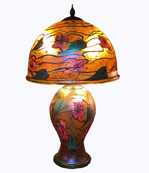 Charles Lotton Studio Glass Table Lamp, Dated 2006