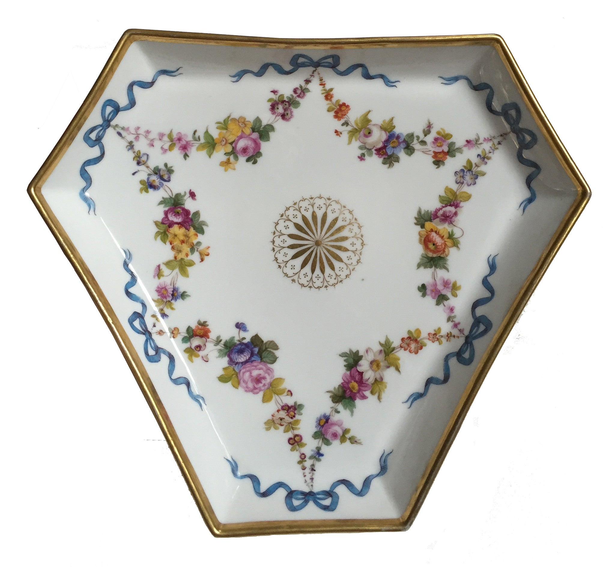 SOLD French Paris Nast Porcelain Shaped Tray, circa 1820