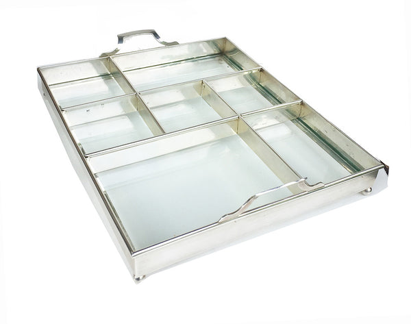 SOLD American Tiffany Sterling Silver Tray Frame with Inserts and Clear Glass Liner