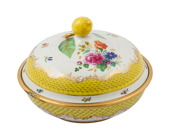 SOLD Continental Vienna-Style Porcelain Vegetable Tureen and Cover